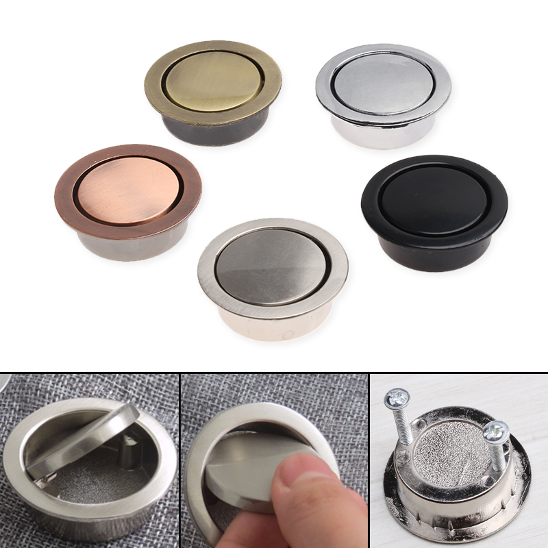 Zinc Alloy Furniture Door Knobs Concealed Embedded Invisible Modern Handles 5Color Simple Cabinet Drawer Cupboard Pulls Knob modern simple invisible cabinet door knobs