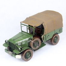 Free Shipping Handmade Antique ARMY Green Car Model