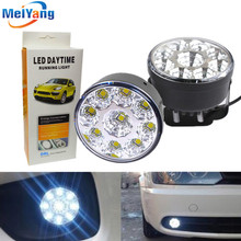цена на 1pair Waterproof led drl daytime running light Fog Lamp White 9 LED SMD day Lamps car led bulbs Car Light Source parking