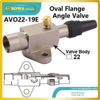 Oval flange type angle valve can work  as spare parts and accessories for semi-hermetic reciprocating freon compressors