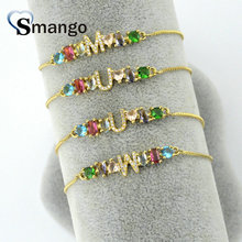 10Pcs The Rainbow Series Women Fashion The 26 Letter Shape Bracelet,Gold Color,Can Wholesale, If You Need Connector Contact Us все цены