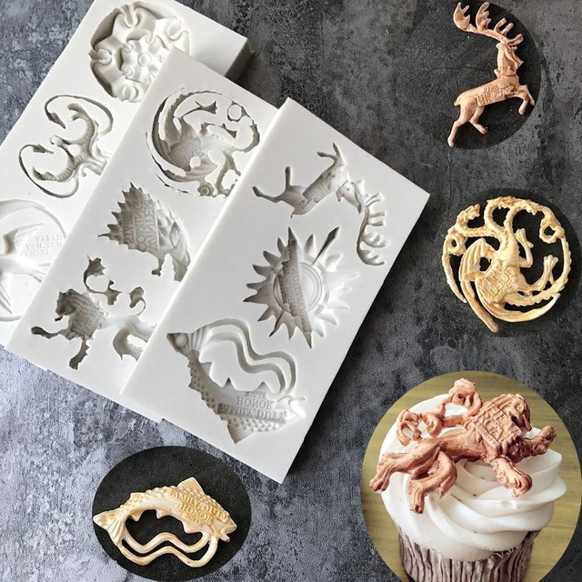 DIY Game Of Thrones Silicone Mold Cake Fondant Mold Cookies Chocolate Mould  Kitchen DIY Baking Decorating