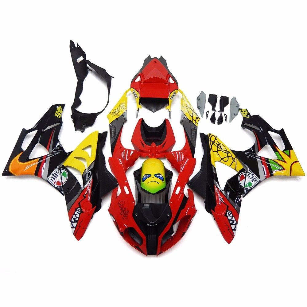 Red Yellow Black Shark ABS Plastic Complete Mold Fairing Kit Injection Bodywork Cowl Cover for 2015-2016 BMW S1000RR S 1000 RR image