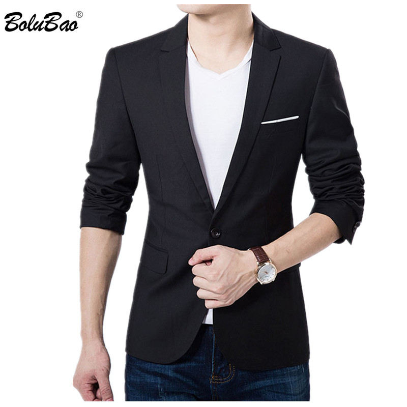 BOLUBAO New Brand Men Suit Casual Blazer 2019 Autumn Male Business Wedding Suits Men Formal Costume Slim Fit Blazers