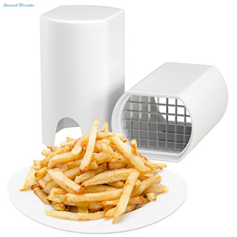 Sweettreats One Step Natural French Fry Cutter Vegetable Fruit Slicer Potato-Perfect fries