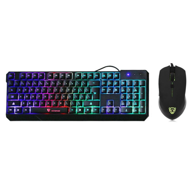 motospeed k70l usb wired gaming keyboard and mouse set 7 color backlit keyboard mouse combos in. Black Bedroom Furniture Sets. Home Design Ideas