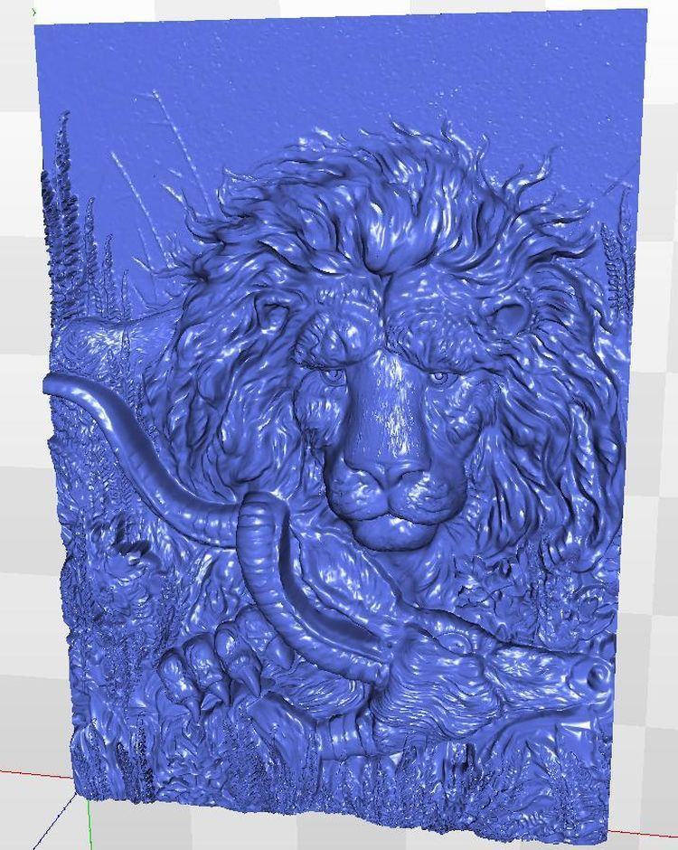 3d model relief Panno_prey for  cnc in STL file format 3d model relief for cnc in stl file format rose 1