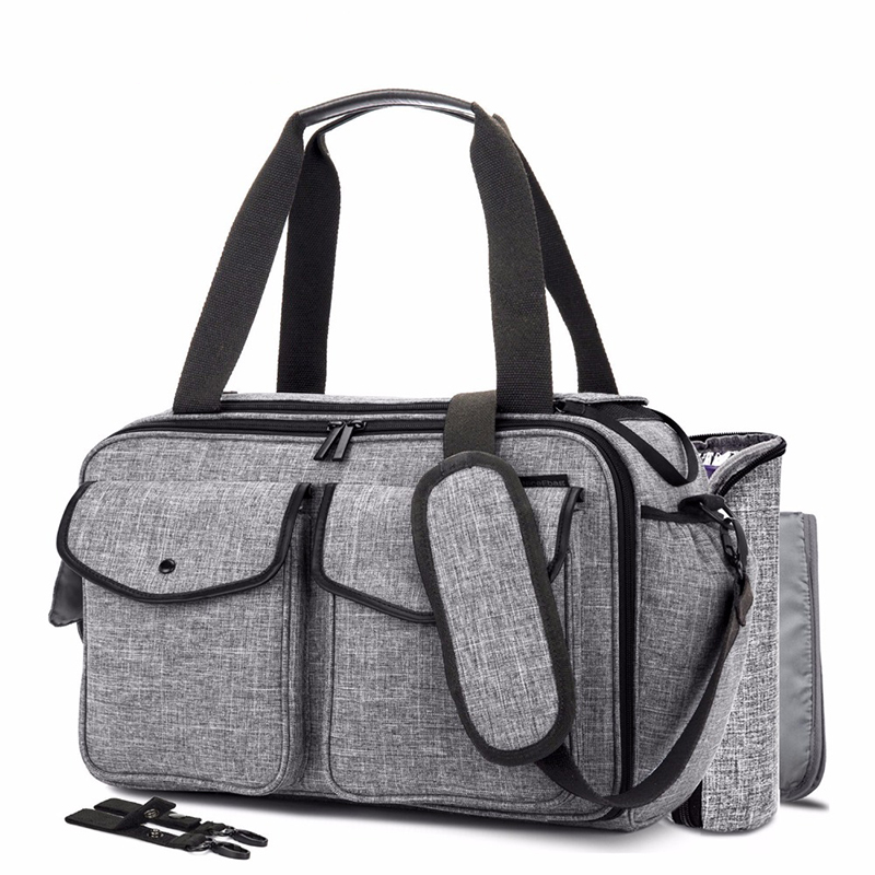 CoolBell Baby Diaper Bag With Insulated Pockets Nappy Bag Multi functional Baby Accessories Shoulder Bag Include