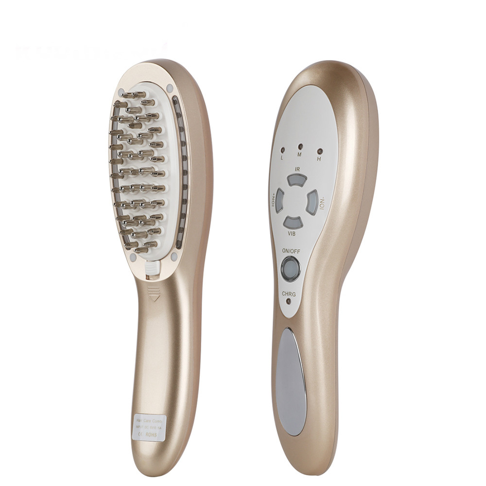 Konmison Rechargeable Hair Growth LED Photon Comb 4 In 1 Vibration Massager Hair Loss Therapy Hair Anti- Loss Regrowth BrushKonmison Rechargeable Hair Growth LED Photon Comb 4 In 1 Vibration Massager Hair Loss Therapy Hair Anti- Loss Regrowth Brush