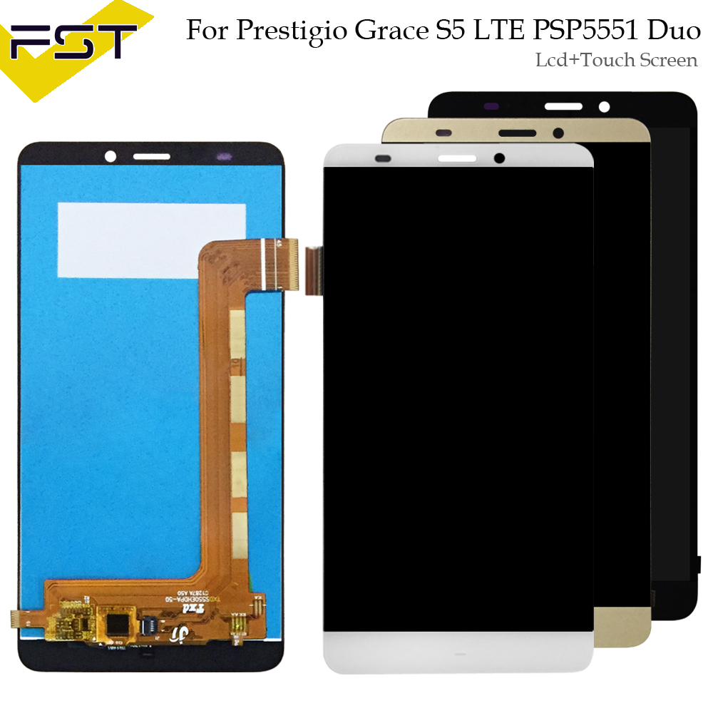 for Prestigio Grace S5 LTE PSP5551 Duo PSP 5551 psp5551duo LCD Display Touch screen digitizer panel sensor lens glass Assemblyfor Prestigio Grace S5 LTE PSP5551 Duo PSP 5551 psp5551duo LCD Display Touch screen digitizer panel sensor lens glass Assembly