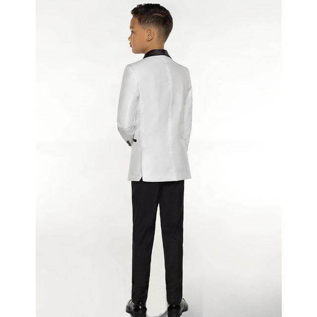 Online Shop KUSON White Boy Suit Set Kids Boy Suits for Weddings ...