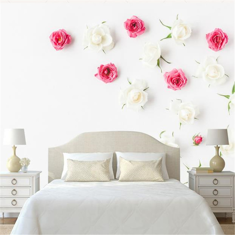Custom 3D Photo Flowers Wallpapers Modern Simple Wall Murals White Rose Floral Vintage Walls Papers for Wall Living Room Bedroom