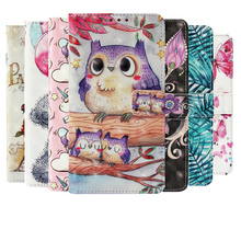 3D Print Cute OWL Unicorn Flip Case for Samsung Galaxy S7 Edge S8 S9 S10 Plus Wallet PU Leather For S10Lite S10Plus