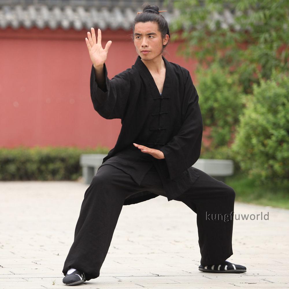 24 colores Lino Wudang Taoist Artes marciales Kung fu Traje Tai chi - Ropa deportiva y accesorios - foto 3