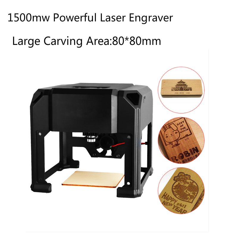 1500mw USB Laser Engraver 8*8cm Large Carving Area Art Crafts High Speed for PC Windows DIY Engraving Machine