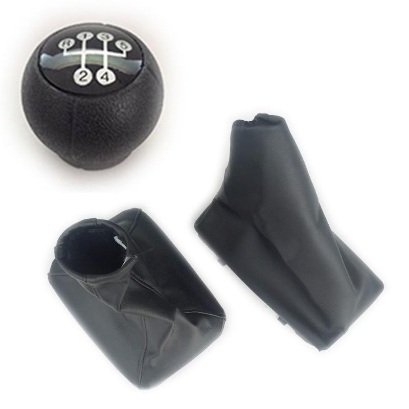 Gear Shift Knob Stick Black Eco Leather Lever Scheme Universal Car Van SHIFT