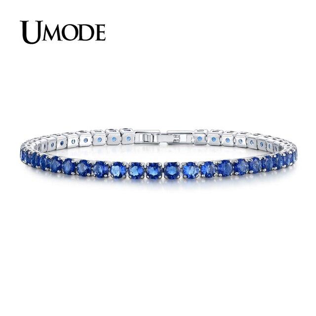UMODE New CZ Cubic Zirconia Màu Xanh Đậm Gọn Gàng Tennis Bracelet Cho Phụ Nữ Năm Mới của Quà Tặng Đồ Trang Sức Thời Trang Bracciali Donna UB0097C