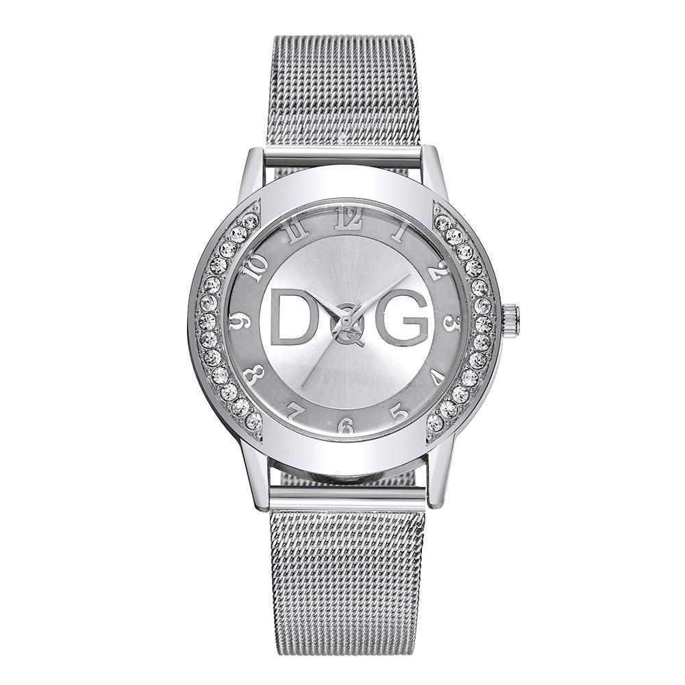 New Brand Women With Crystal Simple Fashion Lady Mesh Strap Watch Women Rhinestone Case Watch reloj mujer Hot Sale Hodinky