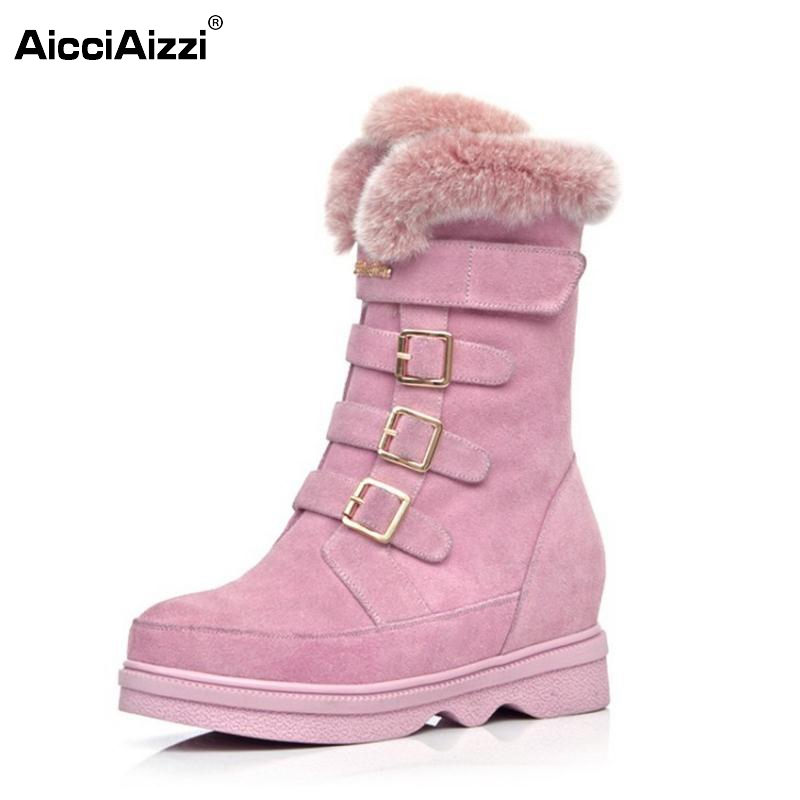 Snow Boots Women Half Knee Boot Real Genuine Leather New Fashion Keep Warm Fur Round Toe Shoes Woman Flats Shoes Size 34-39 snow boots women half knee boot real genuine leather new fashion keep warm fur round toe shoes woman flats shoes size 33 43