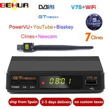 New GTmedia v7 Upgrade Digital Satellite TV receiver Full 1080P DVB-S2 V7S HD+USB WIFI with 1 Year Europe clines Decoder TV Box