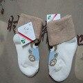 2 unids de carga 0-1-3 años de edad recién nacido 6 pila de lazo del bebé del otoño y el invierno engrosamiento masculinos calcetines niños calcetines de algodón puro