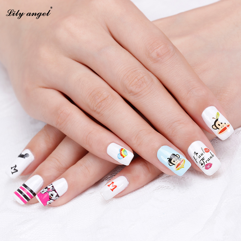 Fashion 1sheet Water Transfer Nail Art Decals 3d Snowflake Angel Stickers Decorations Winter