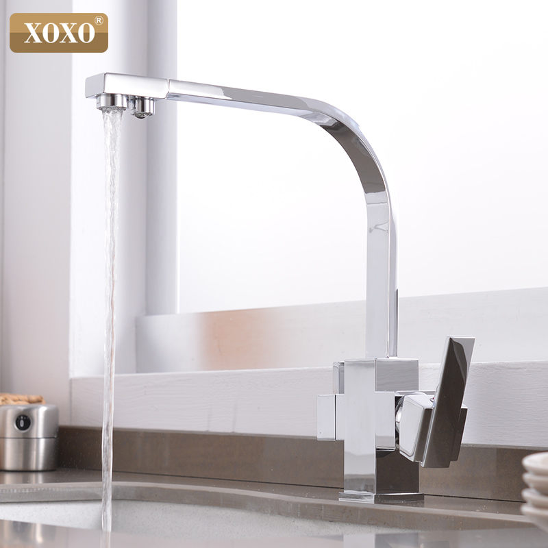 Image 5 - XOXO Filter Kitchen Faucet Drinking Water Single Hole Black Hot and cold Pure Water Sinks Deck Mounted  Mixer Tap 81058Kitchen Faucets   - AliExpress