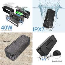 IP7X Tahan Air Portable Kolom 40W Power Bluetooth Speaker Super Bass Subwoofer Soundbar Pusat Musik untuk Komputer BOOMBOX(China)