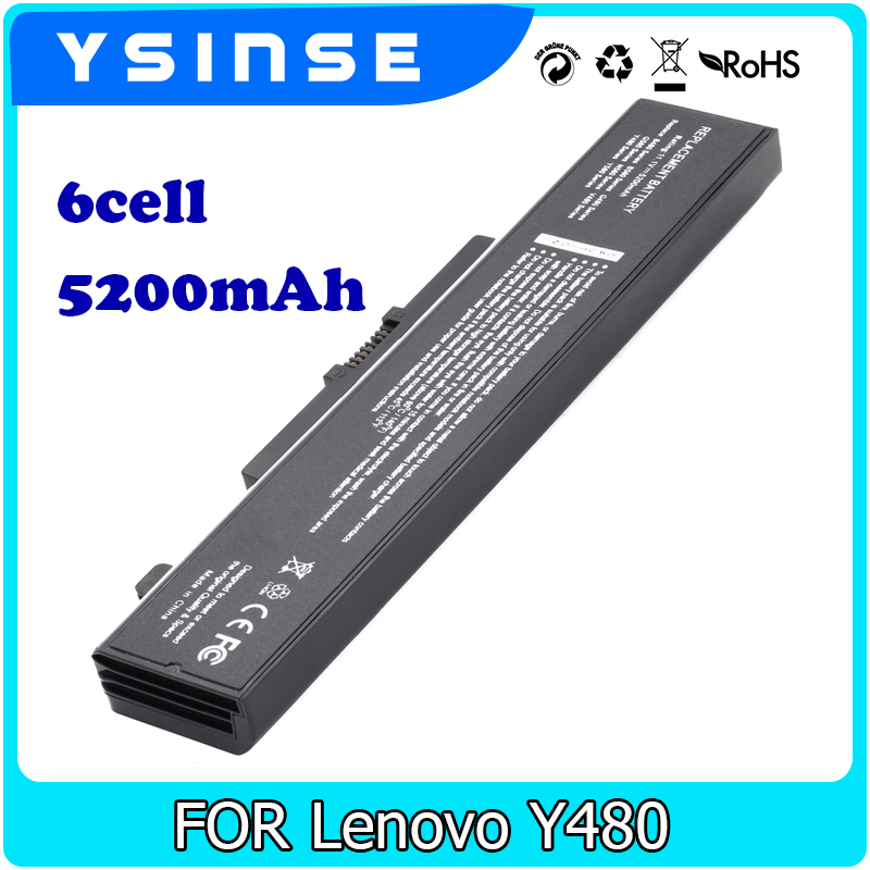 YSINSE Laptop Battery For Lenovo Ideapad Y480 G480 G580 V480 B480 Z480 Z580 B585 Z380 Z580 ThinkPad Edge E43 K43 L11L6F01 lmdtk new 9 cells laptop battery 121500049 for lenovo g500 y485n series ideapad g580 y580 y480 z480 y580n