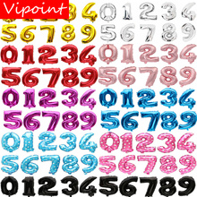 VIPOINT PARTY 16/32inch red blue gold silver number foil balloons wedding event christmas halloween festival birthday party FD-4