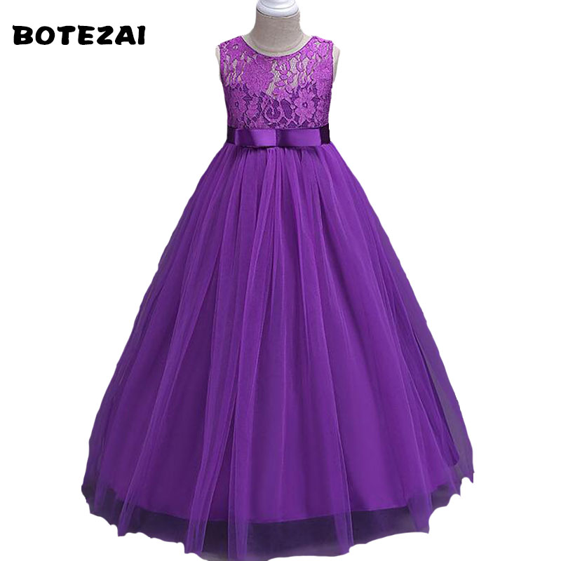 Brand Baby Girl Dress Children Kids Dresses For Girls 4 6 8 10 12 14 Year Birthday Outfits Dresses Girls Evening Party Formal We baby girls party dress 2017 wedding sleeveless teens girl dresses kids clothes children dress for 5 6 7 8 9 10 11 12 13 14 years