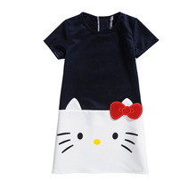 Lovely Hello Kitty Themed Cotton Baby Girl's Dress