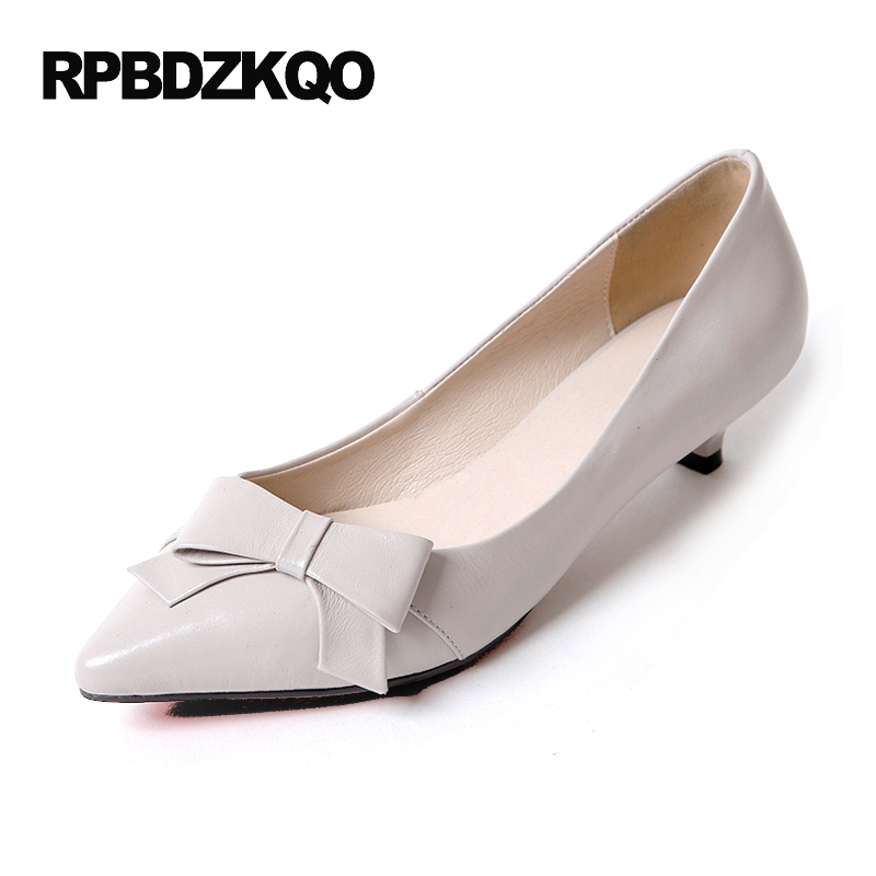 Size 4 34 Japanese Ladies Kitten Heels Shoes Bow Pointed Toe 2017 Thin Low Discount Beige Pumps New China Chinese Fashion Summer 10 42 33 pointed toe kitten lilac pumps low plus size shoes snakeskin snake high heels 2017 ladies 4 34 small 12 44 walking
