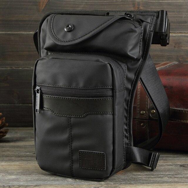 dbe7d45df3 Waterproof Nylon Canvas Waist Fanny Pack Travel Drop Belt Bags Cross Body  Fashion Shoulder Men