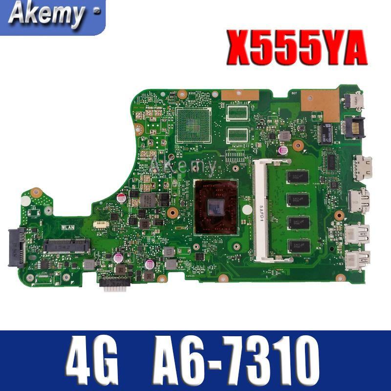 Amazoon X555YA motherboard 4G A6-7310 For ASUS X555DG X555YA X555Y laptop motherboard X555YA mainboard X555Yi motherboard testokAmazoon X555YA motherboard 4G A6-7310 For ASUS X555DG X555YA X555Y laptop motherboard X555YA mainboard X555Yi motherboard testok