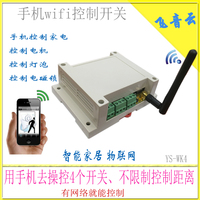 WiFi Relay Switch Mobile Phone Control Multi Channel Remote Network Relay With Antenna Smart Home Wk4