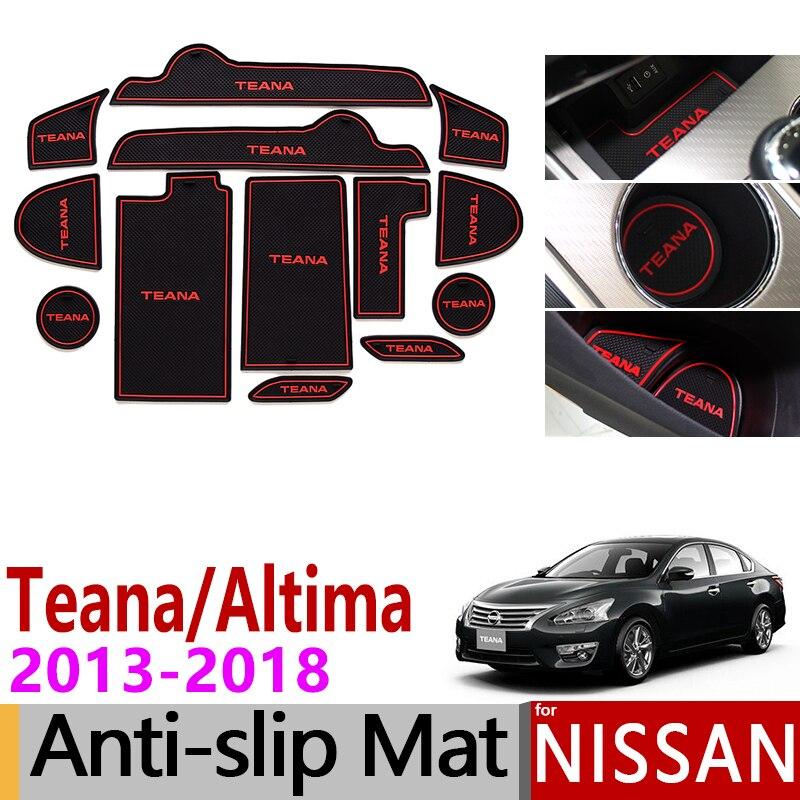 Anti-Slip Porte Fente Tapis Tapis de Coupe En Caoutchouc pour Nissan Teana Altima L33 2013-2018 Accessoires Autocollants 2013 2014 2015 2016 2017 2018