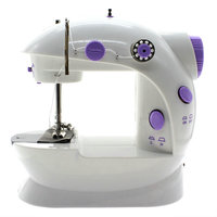 US Plug Household Manual Handheld Mini Sewing Machine Electrict Automatic Thread Rewind Sewing Machine with LED Light