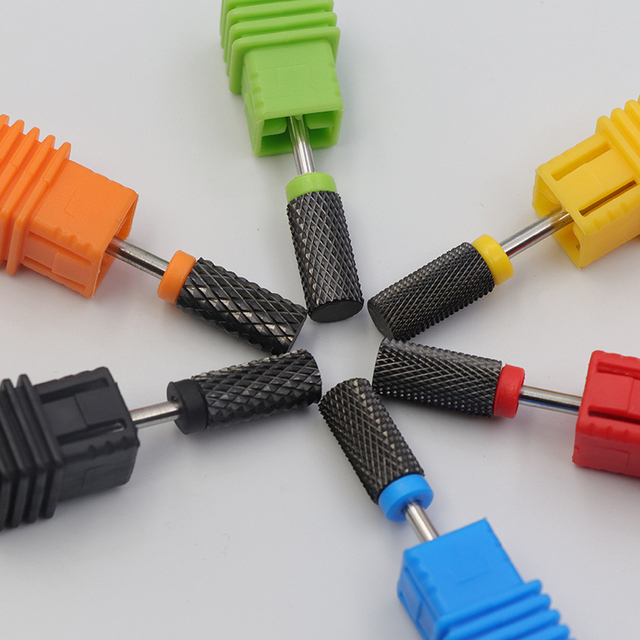 BLACK Ceramic Nail Drill Bit Rotate Burr Milling Nail Cutter Bit For Manicure Pedicure Tool Electric Nail Drill Accessorie