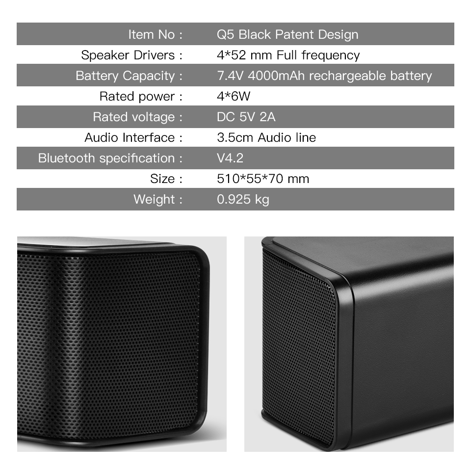 Soundbar 24W сымсыз дыбыс жолағы 21 дюйм 2.0 - Портативті аудио және бейне - фото 3