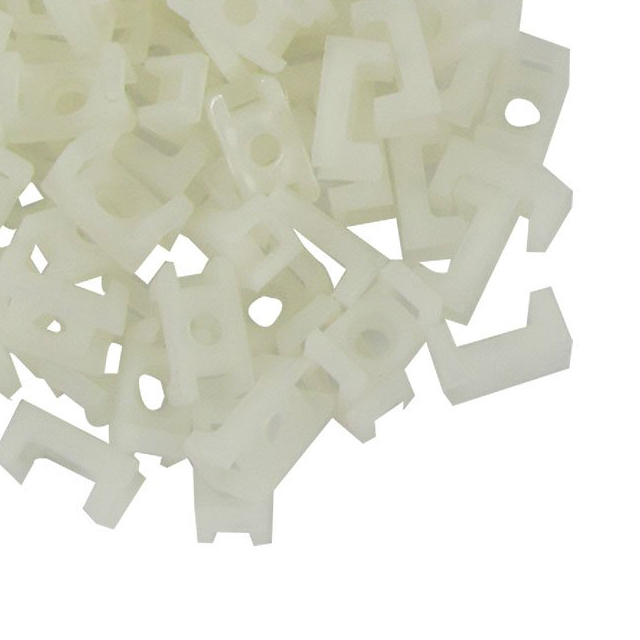 IMC hot 100 Pcs 3mm Width Wire Cable Tie Holder White Plastic ...