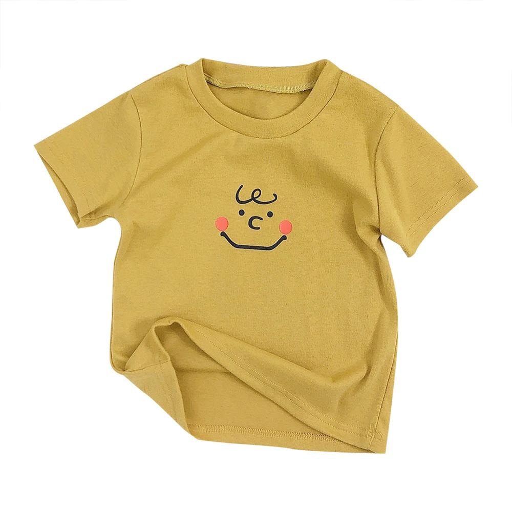 Summer Kids T-Shirts Cotton Cartoon Print Tops Blouse Short Sleeve Casual T-Shirts For Kids Boys Girl