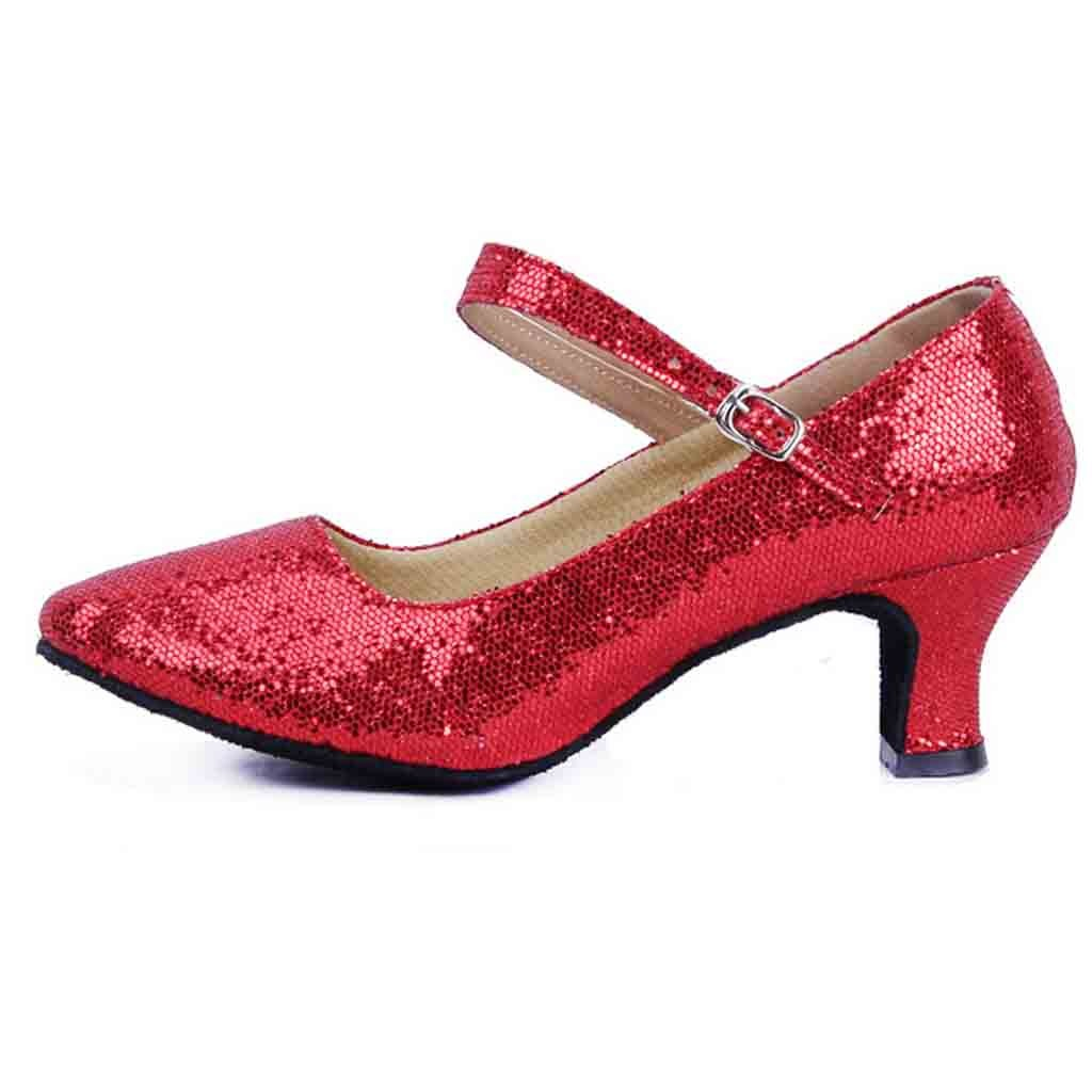 Spring New Glitter Shoes Women Point Mid-High Heels Ballroom Latin Tango Rumba Dance Shoes Sexy High Heels Women ShoesSpring New Glitter Shoes Women Point Mid-High Heels Ballroom Latin Tango Rumba Dance Shoes Sexy High Heels Women Shoes