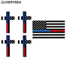 Reflective Thin Blue line Car Sticker-Thin Line US Flag Punisher Skull Dark Night Decals American USA Vinyl Stickers
