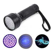 Drop shipping 5W Black tactical Flashlight 51 UV LED Torch Scorpion Detector Hunter Finder Ultra Violet Black light Torch Lamp
