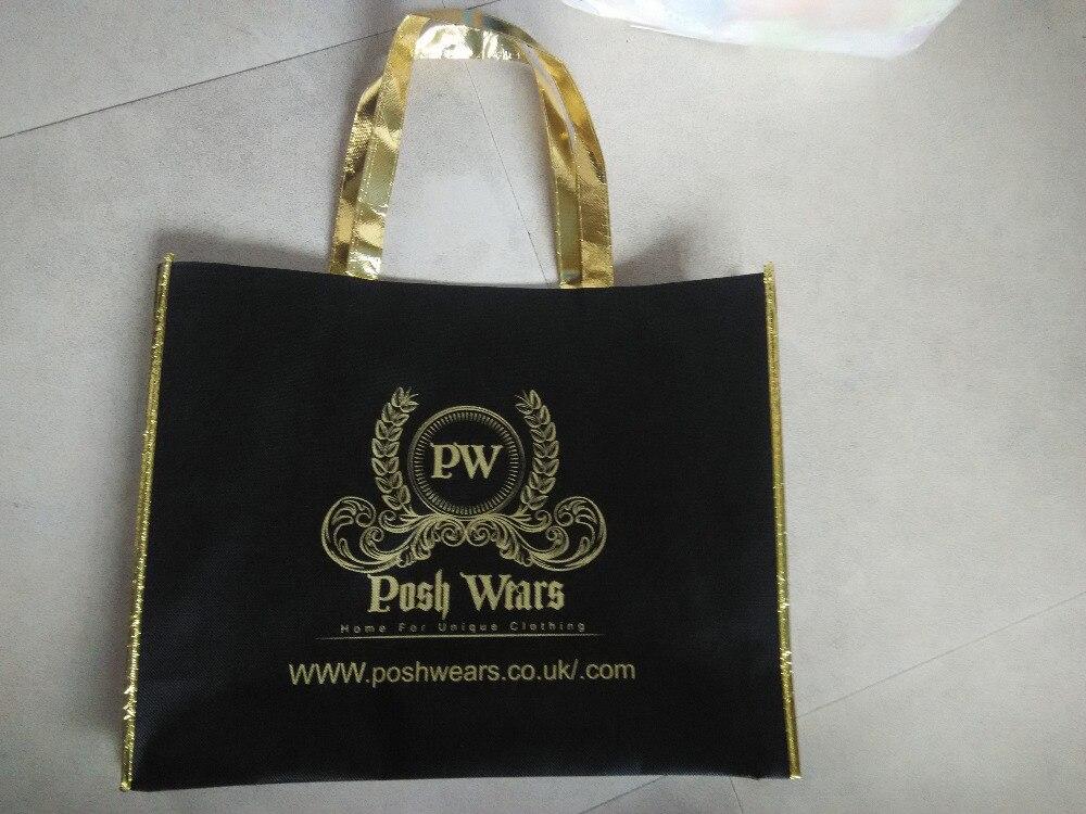 1000pcs lot h35xw45xd10cm customized reusable non woven shopping