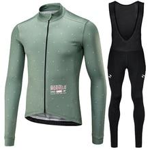 Runchita 2020 zima termiczna z polaru zestaw z długim rękawem bicicleta maillot ciclismo zestaw zimowa jazda na rowerze odzież rowerowa Ropa de invierno