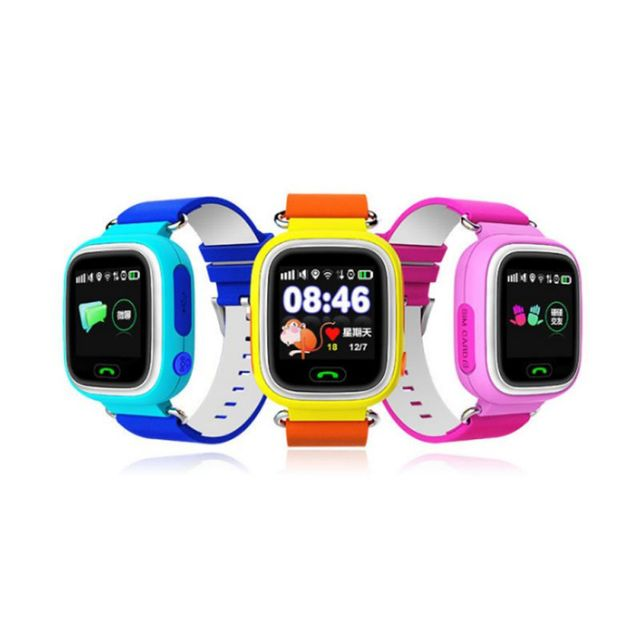 Children Smart Watch GPS Location 1.22 Inch Touch Screen Wristwatch Wearable Device WIFI SOS Smart Baby Watches