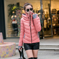 XXL New Fashion Autumn Winter Hin Thin Wadded Jacket Outerwear Plus Size Cotton Coat Women Loose Thicken Female Coat 61721