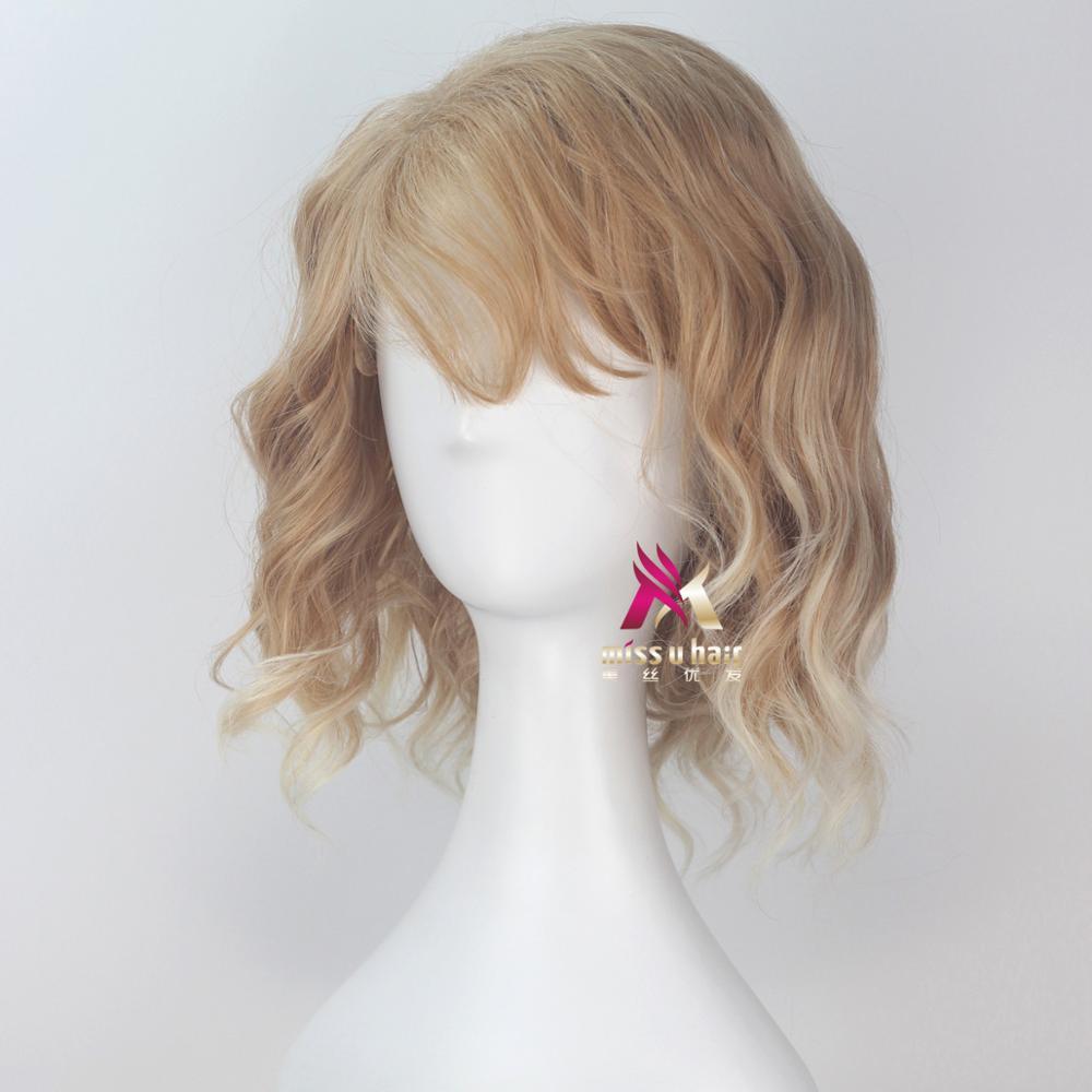 Miss u cabelo sintético curto encaracolado cinza